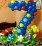 Цифра 7 из шаров. Фото 1.