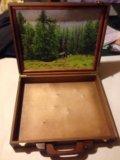 Деревянная шкатулка с картиной. Фото 1.