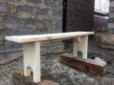 Лавка, скамья деревянная. Фото 1.
