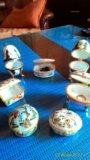Шкатулки фарфор 7 штук коллекция. Фото 3.