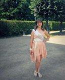 Персиковое платье 44-46. Фото 2.