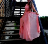 Розовое платье. Фото 2.