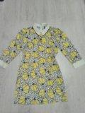 Платье яркое весна лето желтое  44. Фото 2.