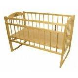 Кроватка детская с пружинным матрацом. Фото 1.
