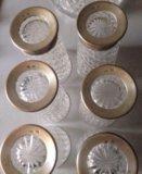 Кувшин хрусталь серебро 875 и 6 стаканов. Фото 4.