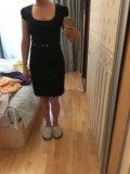 Классическое чёрное платье. Фото 1.
