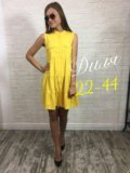 Платье новое 42-44 р ткань лен. Фото 1.