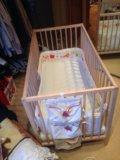 Детская кроватка с матрасом. Фото 1.