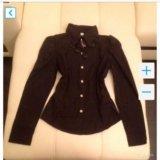 Чёрная новая рубашка с рукавом. Фото 1.