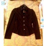 Чёрная новая рубашка с рукавом. Фото 2.