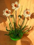 Цветы из бисера. Фото 2.
