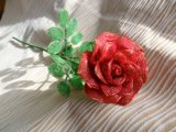 Цветы из бисера. Фото 3.