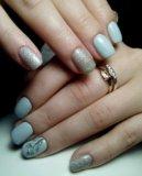 Аппаратный маникюр, покрытие ногтей гель лаком. Фото 3.