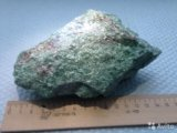 Минерал серебристо-зеленый фуксит. Фото 1.