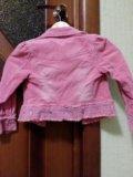 Джинсовый пиджак для девочки. Фото 2.