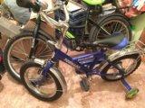 Детский велосипед(синий). Фото 1.