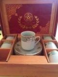 Кофейный набор из фарфора. Фото 1.