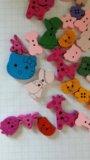 Деревянные детские пуговицы, декоративные. Фото 4.