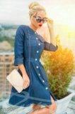 Джинсовое платье,новое. Фото 1.