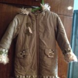 Зимнее пальто 5-6 лет. Фото 3.