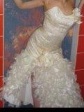 Свадебное выпускное платье. Фото 1.