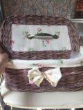Хлебница плетеная. Фото 3.