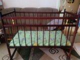 Кровать детская с матрасом. Фото 1.