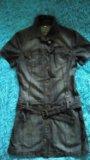 Платье джинсовое 42р. Фото 1.