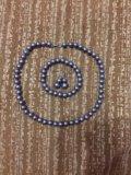 Бижутерия:серьги,браслет,ожерелье. Фото 1.