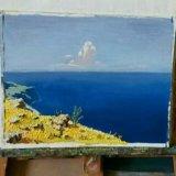 "Картина маслом копия картины ""море.крым"" куинджи. Фото 1."