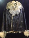 Куртка муж. кожа мех волка. Фото 1.