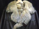 Куртка муж. кожа мех волка. Фото 2.