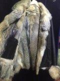Куртка муж. кожа мех волка. Фото 3.
