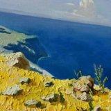 "Картина маслом копия картины ""море.крым"" куинджи. Фото 2."