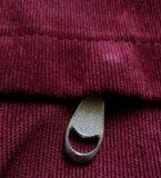 Вельветовый рюкзак винного цвета. Фото 3.