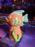 Статуэтка рыбка из красной глины, ручная работа. Фото 1.