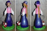 """Кукла сувенирная """"дама с собачкой"""". Фото 2."""