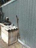 Гаражные ворота,рольставни,3 полотна смяты. Фото 1.