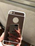 Зеркальный чехол на iphone6. Фото 2.
