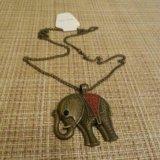 Подвеска в виде слона + цепочка. Фото 4.