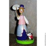 """Кукла сувенирная """"дама с собачкой """" ( малая). Фото 1."""