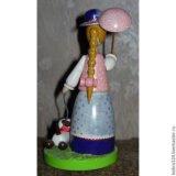 """Кукла сувенирная """"дама с собачкой """" ( малая). Фото 2."""