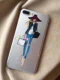 Новый модный силиконовый чехол для iphone 6,7, 7 p. Фото 1.