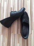 Кожаные полуботинки,туфли  женские. Фото 1.