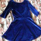 Велюровое платье. Фото 1.
