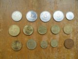15 металлических монет разных стран. Фото 1.