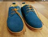 Новые мужские туфли из замши, размер 40,5. Фото 1.