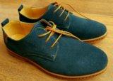 Новые мужские туфли из замши, размер 40,5. Фото 2.