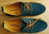 Новые мужские туфли из замши, размер 40,5. Фото 3.