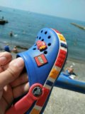 Crocs для мальчика б/у серия lego. Фото 3.